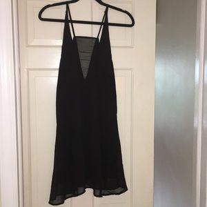 Tobi sheer black camisole dress size small